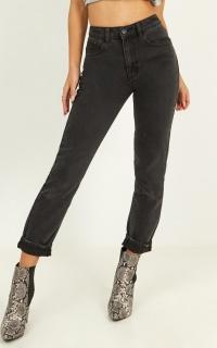 Remy Jeans In Washed Black Denim
