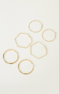 Shine Like You Hoop Earrings Set In Gold