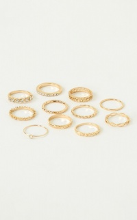 Straight Back To You Ring Set In Gold