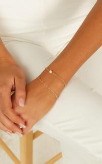 Under The Shadows Bracelet Set In Gold