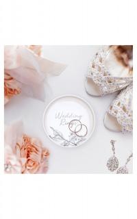 Wedding Rings Trinket Tray In White