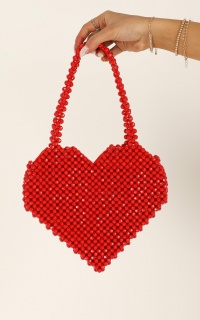 Will We Talk Beaded Bag In Red