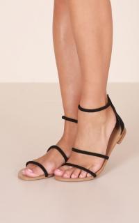 Billini - Unique Sandals in black micro