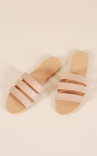Billini - Uma Slides In Nude Pebble