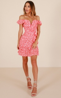 Way Beyond dress in red print
