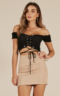 Eyes Open crop top in black