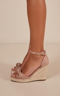 Verali - Askier Wedges In Blush Micro