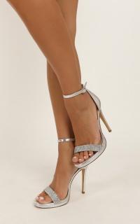 Verali - Parker Heels In Silver Glitter