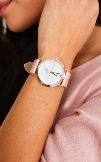 Wishful Thinking watch in pink and gold