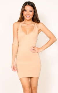 Wanted And Wild Dress In Nude