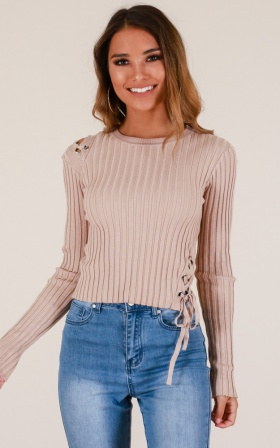 Here Today knit in beige