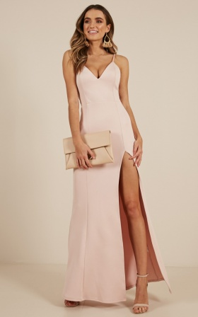 Dare To Dream Maxi Dress in Blush