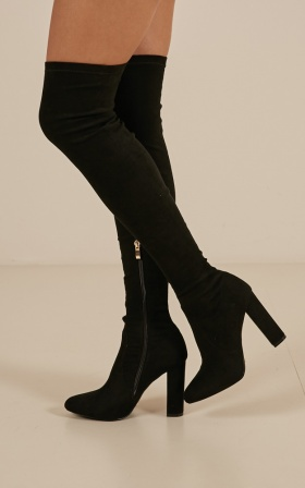 Billini - Piper Boots In Black Micro