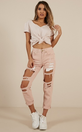 Django Boyfriend Jeans In blush