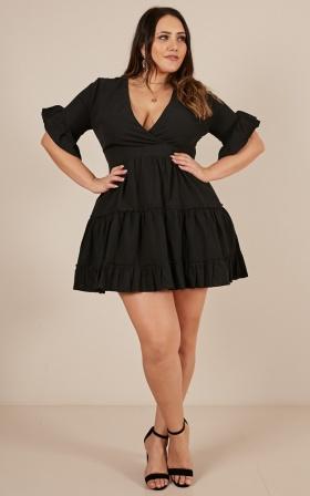 Around The Corner Dress in black