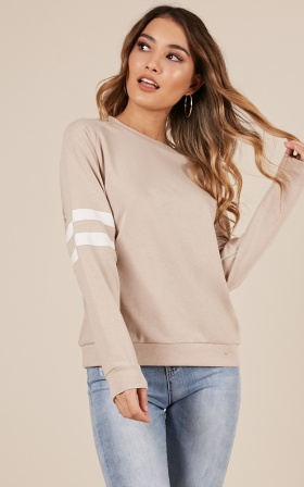 Icy Girl sweatshirt in blush
