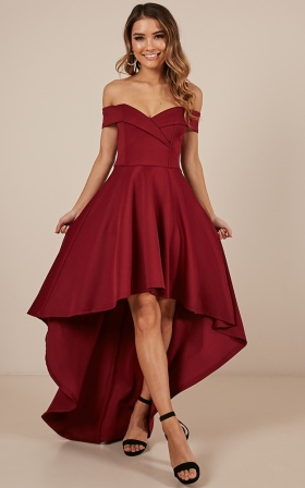 Minute To Midnight Dress In Wine