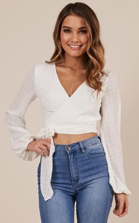 Lost My Way Top in white