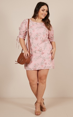 How You Do It Dress in  Blush Floral