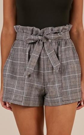 All Rounder Shorts In  Grey Check