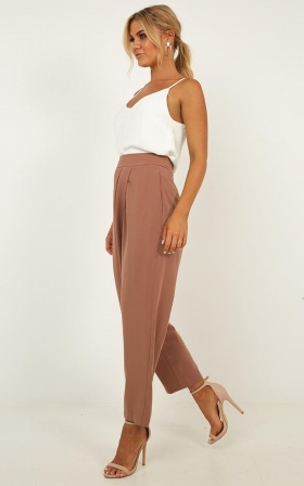Coming To Terms Pants In Mocha