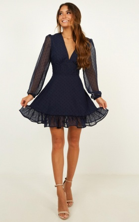 Classic Crush Dress In Navy