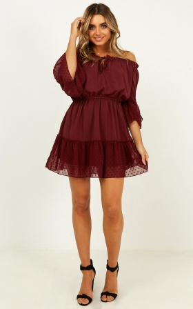 Dream Queen Dress In Wine