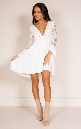 The Movement dress in white