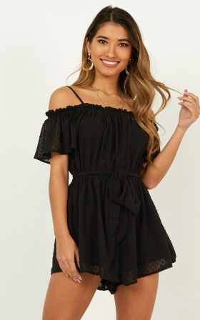 A Trick of Light Playsuit In Black