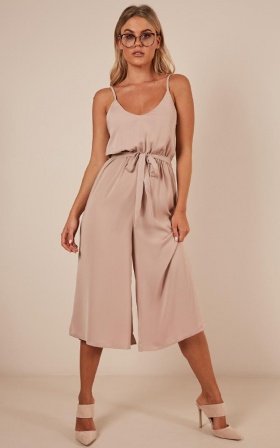 After Hours Jumpsuit In Mocha