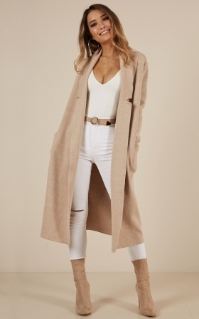 Around The World coat in beige