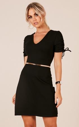 Aspirations dress in black