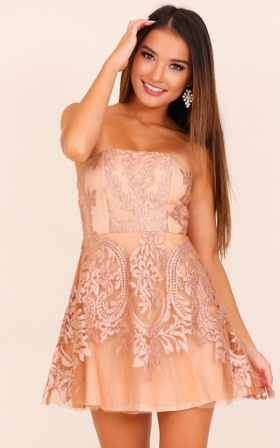 Better With You dress in mocha