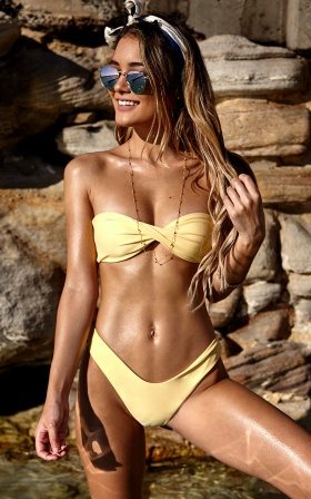 Billie Bikini Top in Lemon