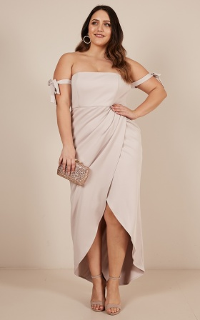 Common Muse Maxi Dress In Stone