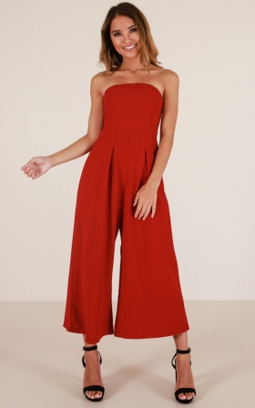 Cool Girl jumpsuit in wine