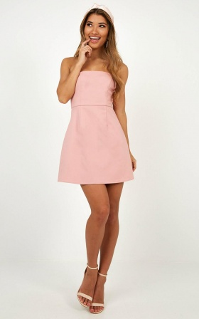 Cover Star Dress In Blush