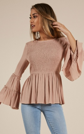Whatever Works Top In Mocha