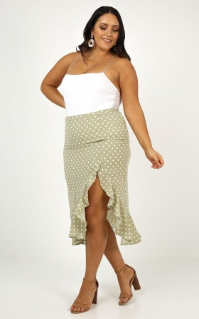 Dont Save Me Skirt In Sage Spot