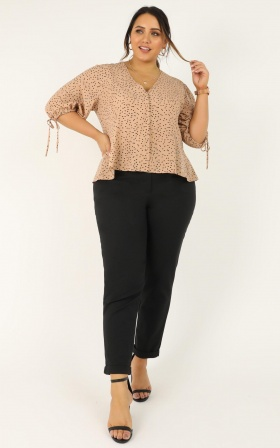 Initiative Top In Nude Print