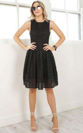 Electric Love dress in black lace