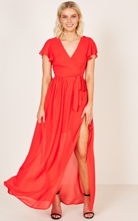 Ever After Dress in red