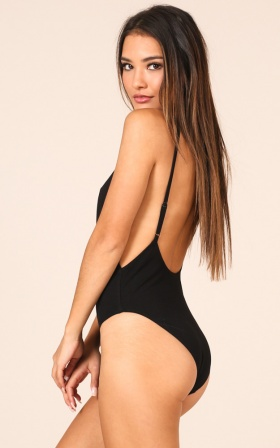 Get Back Up Bodysuit in Black
