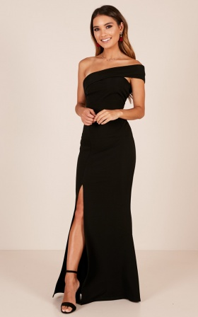 462eb4dec9 Glamour Girl Maxi Dress In Black ...