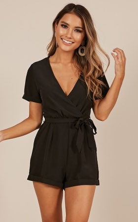 Gotta Have It playsuit in black
