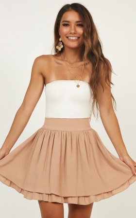 Heart Ache Skirt In Mocha