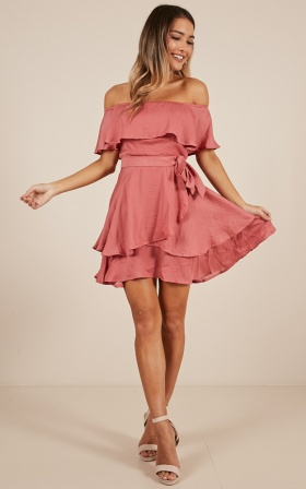 In the Long Run Dress in dusty rose