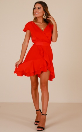 In Theory dress in red