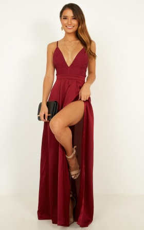 Inspired Tribe Dress In Wine