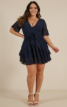 Know What You Want Dress In Navy